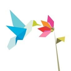 WOW -- origami hummingbird