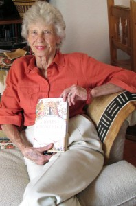 Joyce Appleby with her newest book