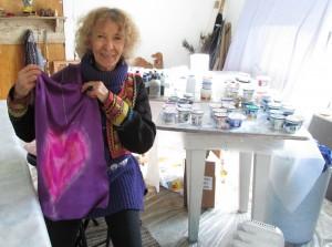 Anita in her studio