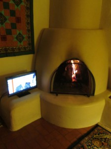 My kiva fireplace in Taos, NM