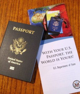 Passport with brochure
