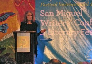 Gloria Steinem at SMA Writers Conference -- Feb