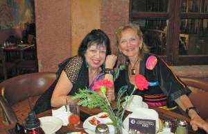 Alma (left) and me at Mama Mia's
