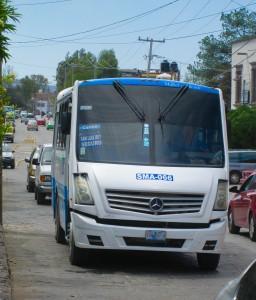 A bus on Ancha de San Antionio, San Miguel