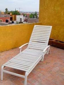 chaise longue on my azotea