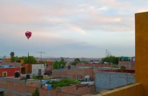 early morning balloon from azotea