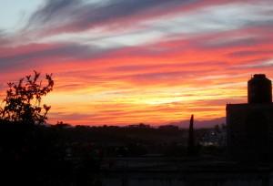 sunset from azotea