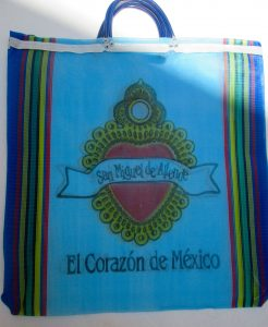 """A shopping bag from the artisanal market in San Miguel de Allende, """"the heart of Mexico."""""""