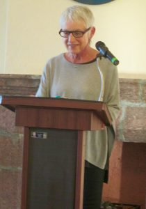 Florence reading at the Literary Sala