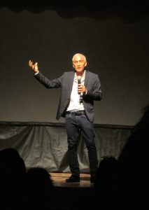 Jorge Ramos on stage at the PEN event in SMA